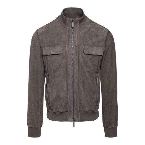 Grey suede jacket                                                                                                                                     Emporio Armani A1R05P back