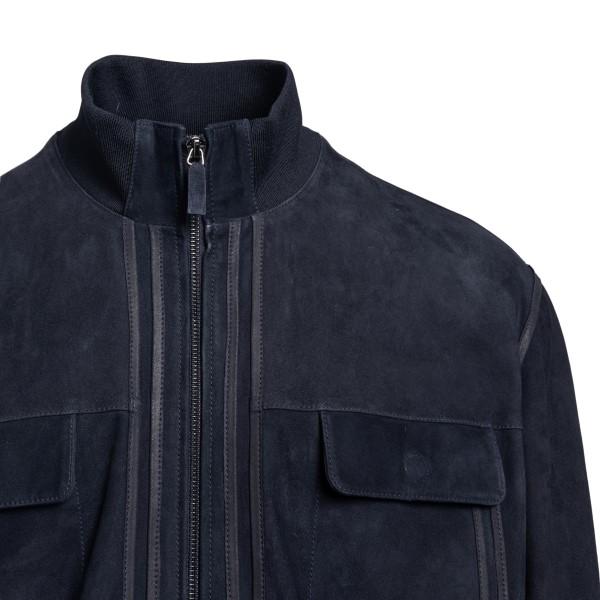 Blue suede jacket                                                                                                                                      EMPORIO ARMANI