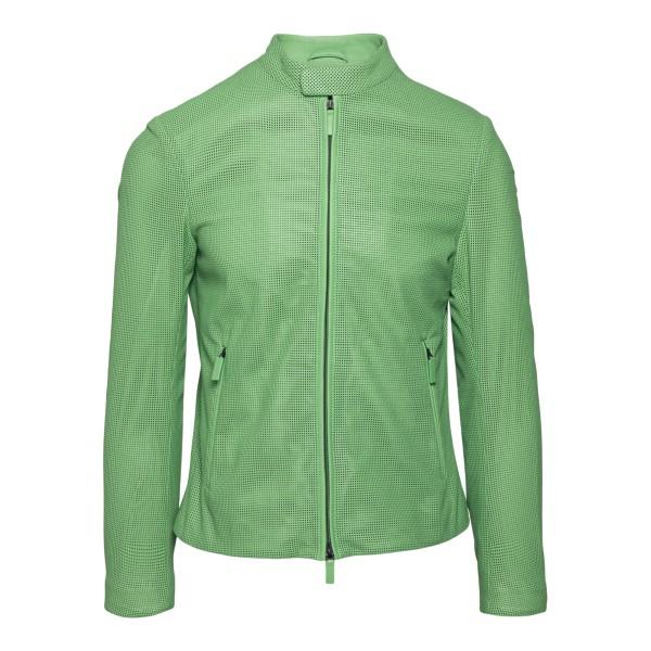 Green biker jacket                                                                                                                                    Emporio Armani A1R45P back