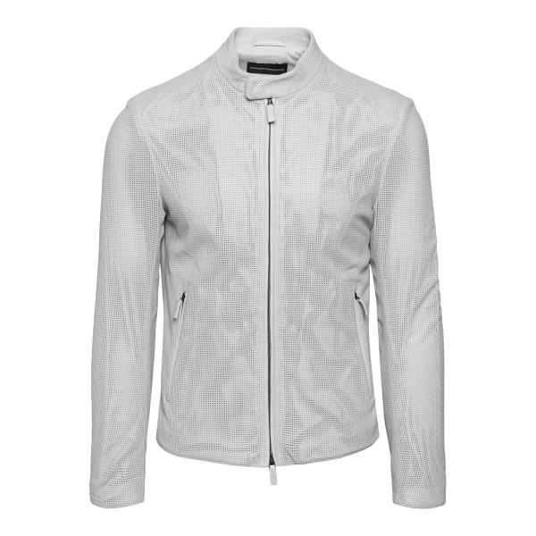 Biker jacket in light grey                                                                                                                            Emporio Armani A1R45P back