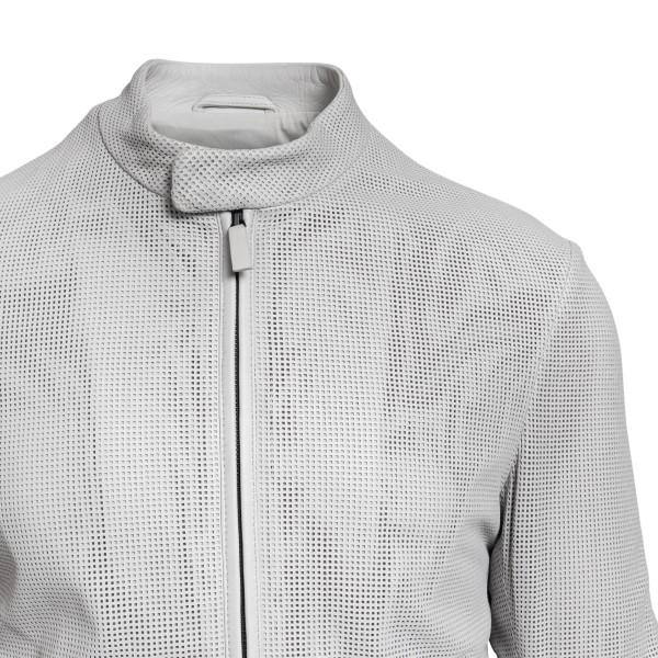 Biker jacket in light grey                                                                                                                             EMPORIO ARMANI