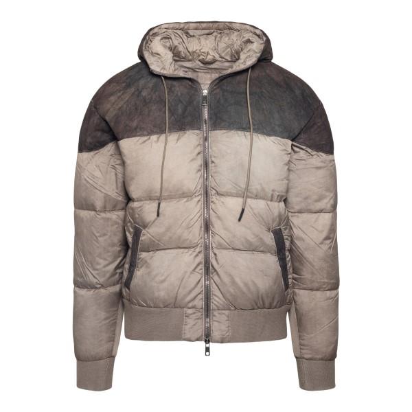 Beige and brown down jacket                                                                                                                           Brato GU22F10079 back