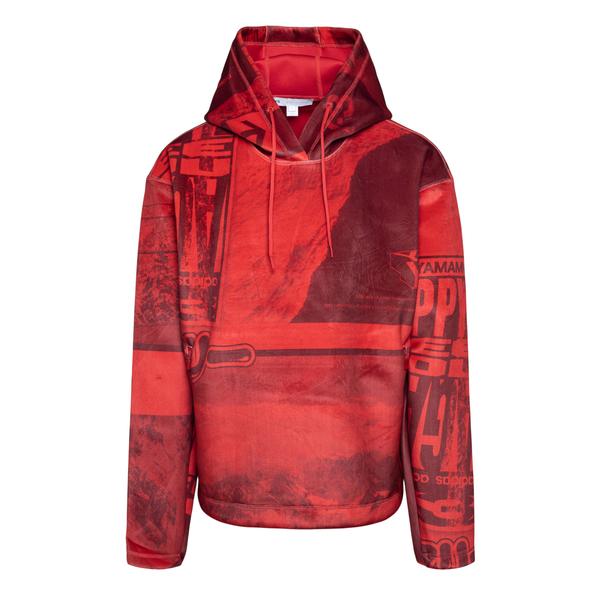 Felpa rossa con stampe                                                                                                                                Y3 HB3320 retro