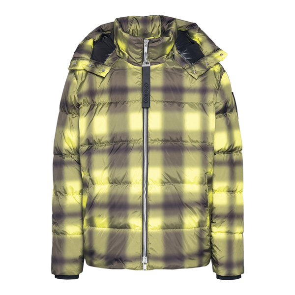Yellow checked down jacket                                                                                                                            Moose Knuckles M31MJ148H back