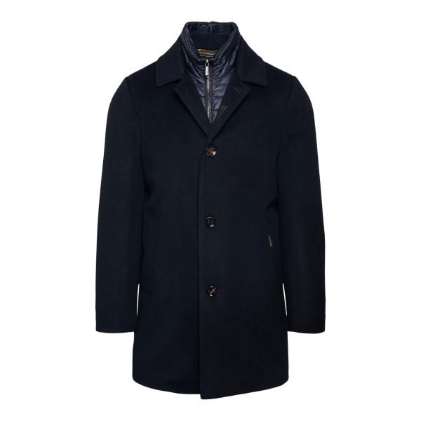 Blue layered coat                                                                                                                                     Moorer MONFERRATO back