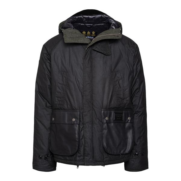 Giacca nera con taschine effetto pelle                                                                                                                Barbour MWX1871 retro