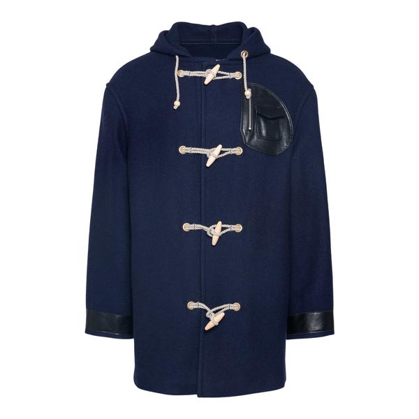 Duffle-style blue coat                                                                                                                                Maison Margiela S50AM0519 back