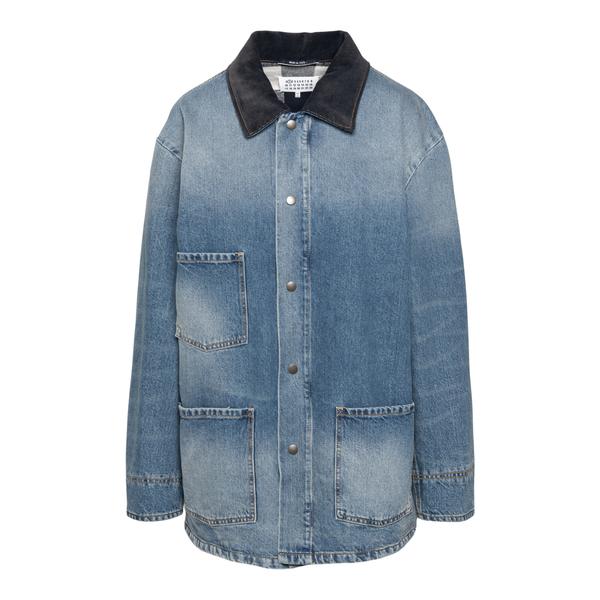 Blue faded denim jacket                                                                                                                               Maison Margiela S51AM0444 back