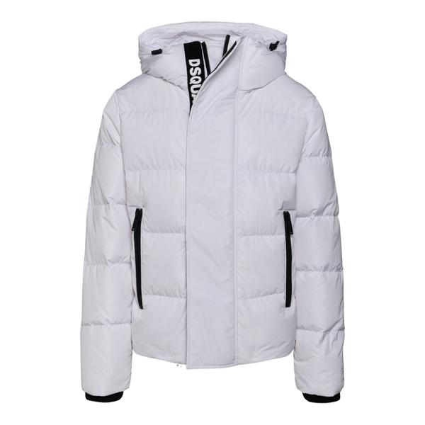 Piumino bianco con fascia nome brand                                                                                                                  Dsquared2 S71AN0305 retro