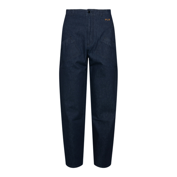 Dark blue jeans with logo embroidery                                                                                                                  Philosophy 0325 back