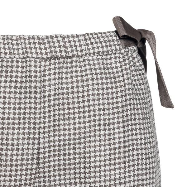 Pantaloni a pied-de-poule con fiocco                                                                                                                   EMPORIO ARMANI                                     EMPORIO ARMANI