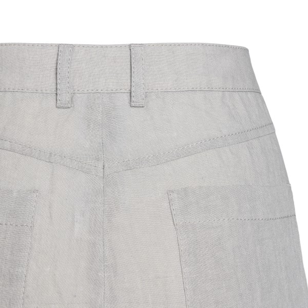 Lightweight trousers in light grey                                                                                                                     EMPORIO ARMANI