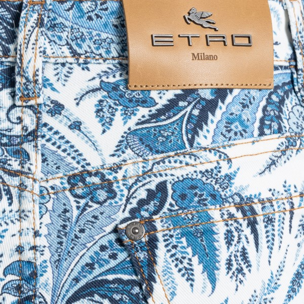 Multicolored trousers with paisley print                                                                                                               ETRO