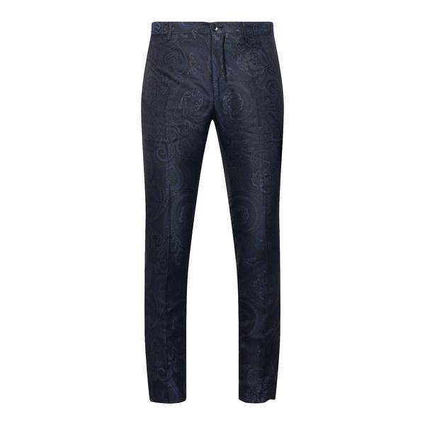 Pantaloni neri con stampa paisley                                                                                                                     Etro 1W310 retro