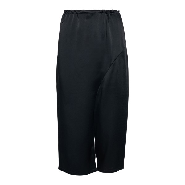 Wide black trousers and crop                                                                                                                          Ann Demeulemeester 21011420 back