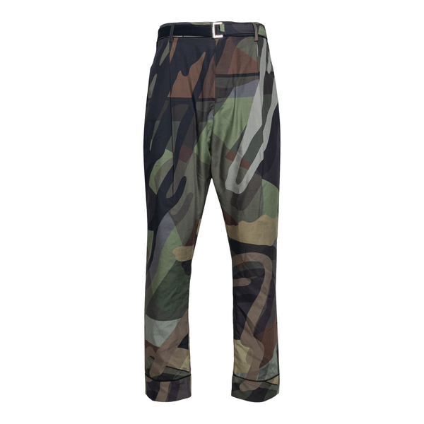 Straight camouflage trousers                                                                                                                          Sacai 2102575M back