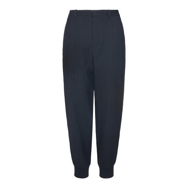 Pantaloni neri con polsini alle caviglie                                                                                                              Ann Demeulemeester 2102WTR10 retro