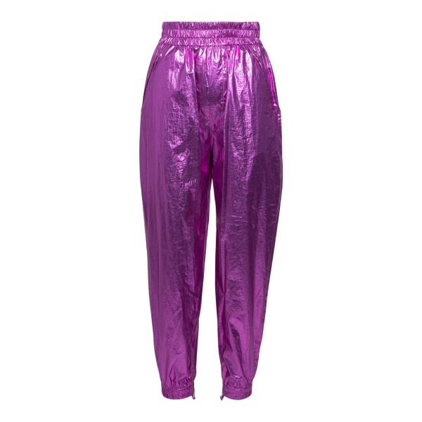 Purple laminated effect trousers                                                                                                                      Isabel Marant PA1937 back