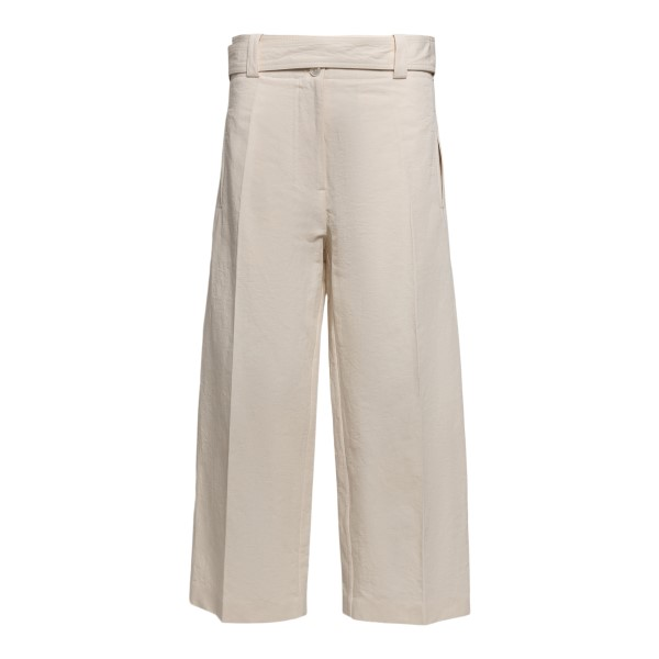 Pantaloni crop colore panna                                                                                                                           Moncler 1952 2A71000 fronte