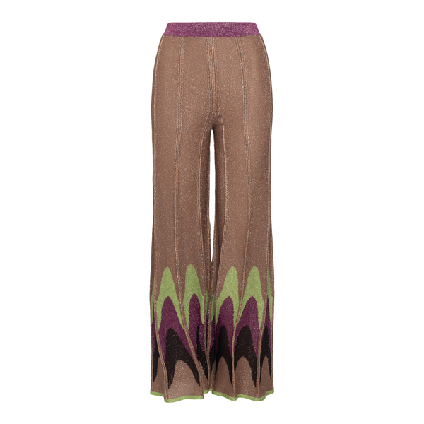 Pantaloni marroni in lurex con fantasia                                                                                                               M Missoni 2DI00306 fronte