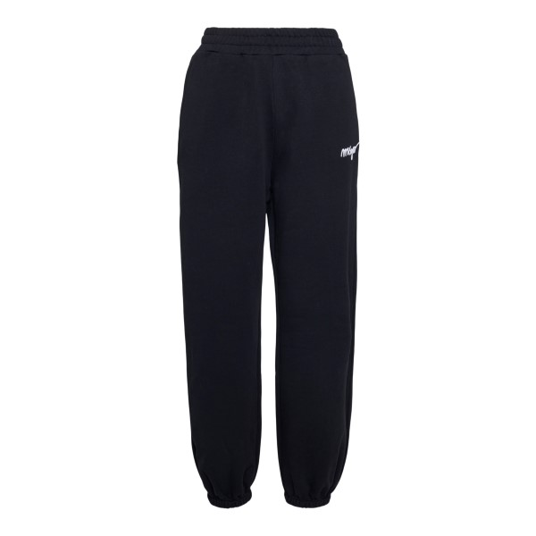 Black sports pants with embroidery                                                                                                                    Msgm 3041MDP61 front