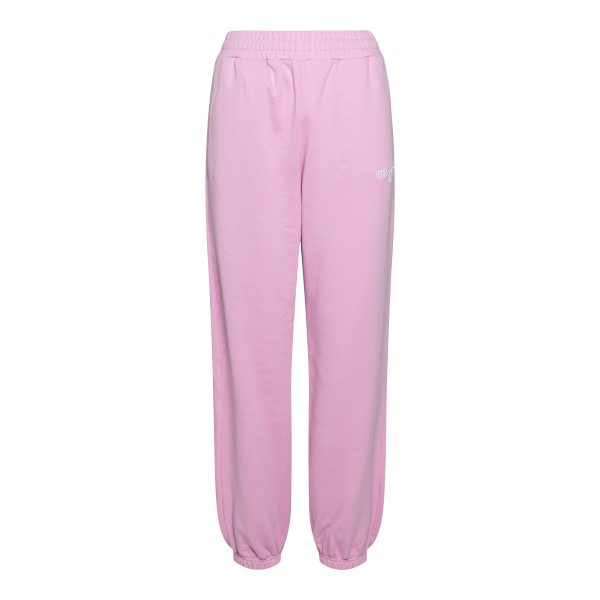 Pink sports pants with embroidery                                                                                                                     Msgm 3041MDP61 front