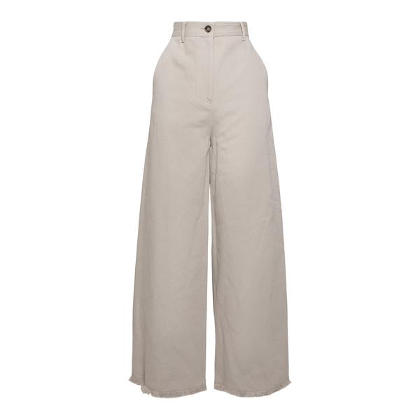 Wide leg beige trousers                                                                                                                               Msgm 3042MDP106 back
