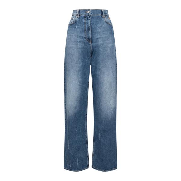Jeans blu a gamba ampia                                                                                                                               Msgm 3142MDP151L retro
