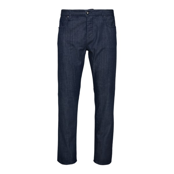 Straight leg blue jeans                                                                                                                               Emporio Armani 3K1J75 back