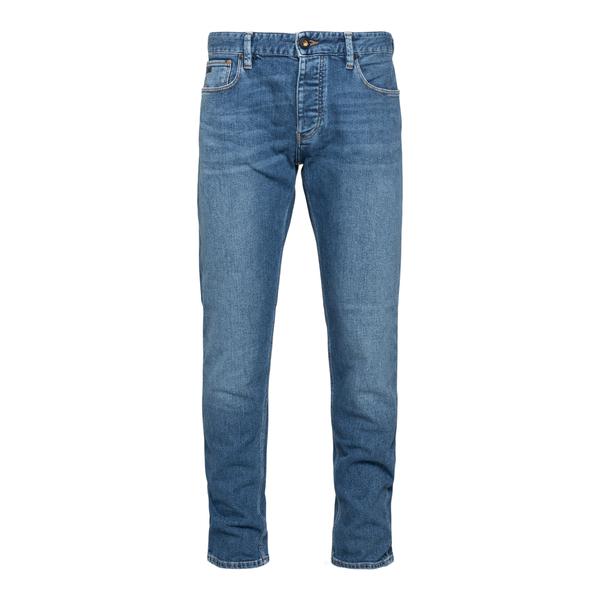 Jeans dritti con applicazione logo                                                                                                                    Emporio Armani 3K1J75 retro
