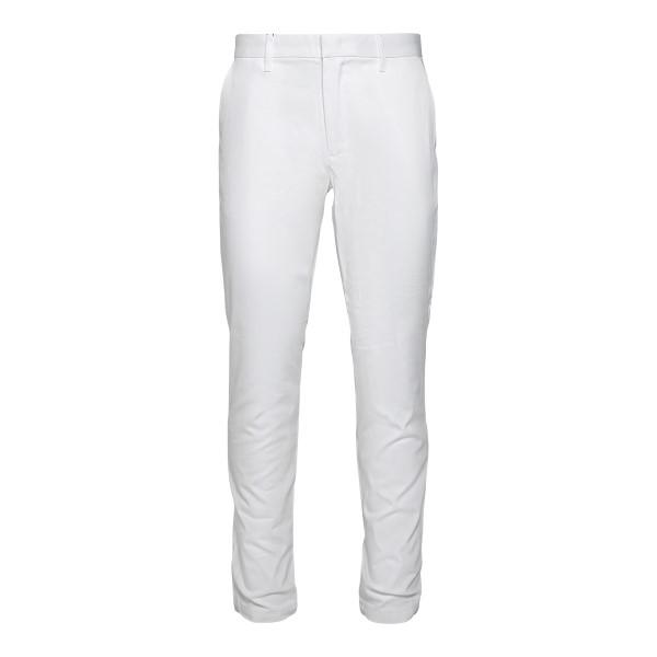 Straight leg white trousers with logo                                                                                                                 Emporio Armani 3K1P15 back