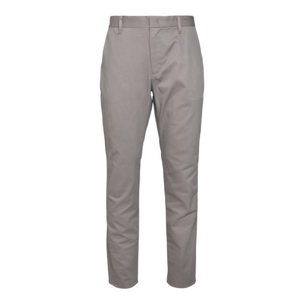 Straight leg beige trousers with logo                                                                                                                 Emporio Armani 3K1P15 back