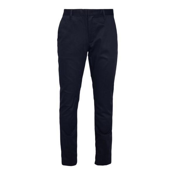 Straight leg balck trousers with logo                                                                                                                 Emporio Armani 3K1P15 back