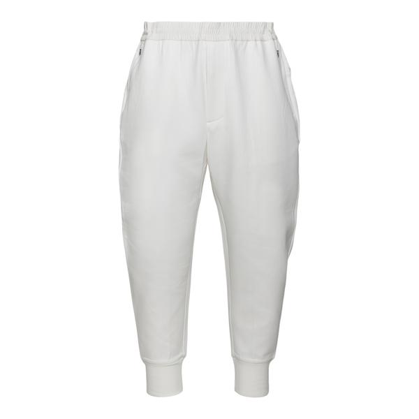 Pantaloni sportivi bianchi con patch logo                                                                                                             Emporio Armani 3K1PF5 retro