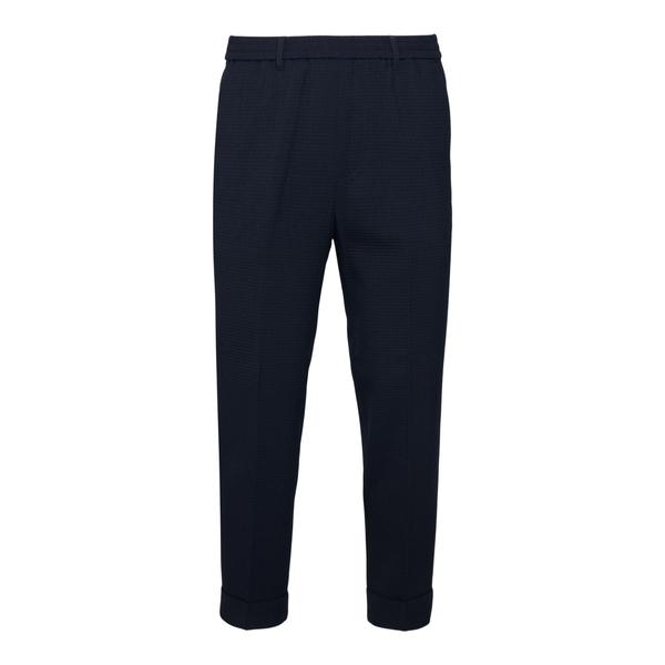 Pantaloni blu scuro con texture a quadretti                                                                                                           Emporio Armani 3K1PL3 retro