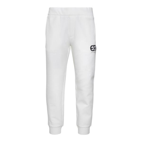 White track pants with brand initials                                                                                                                 Emporio Armani 3K1PQ8 back