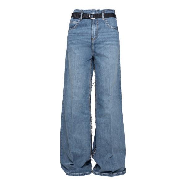 Jeans blu a gamba ampia con cintura                                                                                                                   Emporio Armani 3K2J65 retro