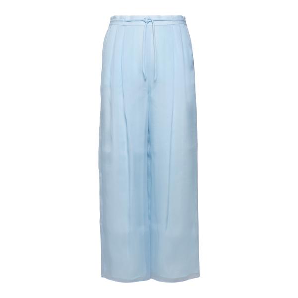 Wide light trousers in light blue                                                                                                                     Emporio Armani 3K2P75 back