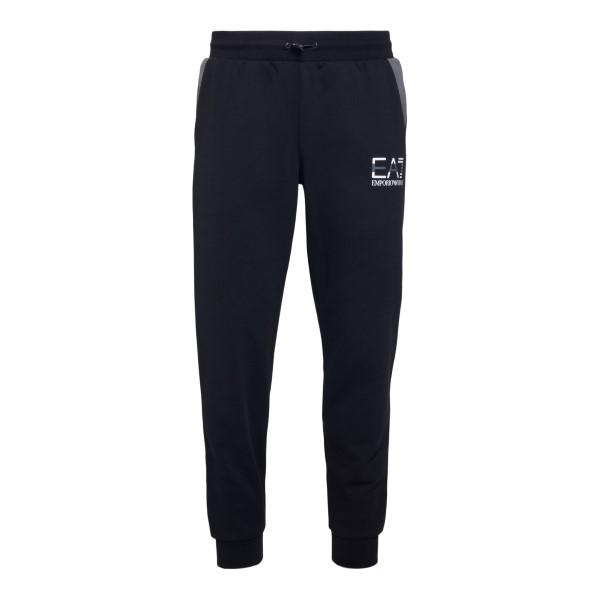 Black sweatpants with logo print                                                                                                                      Ea7 3KPP97 back