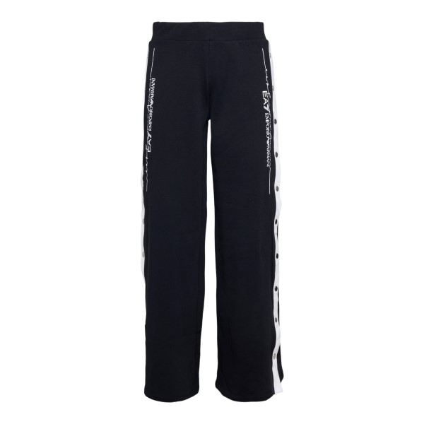 Pantaloni sportivi neri con bottoni ai lati                                                                                                           Ea7 3KTP83 retro
