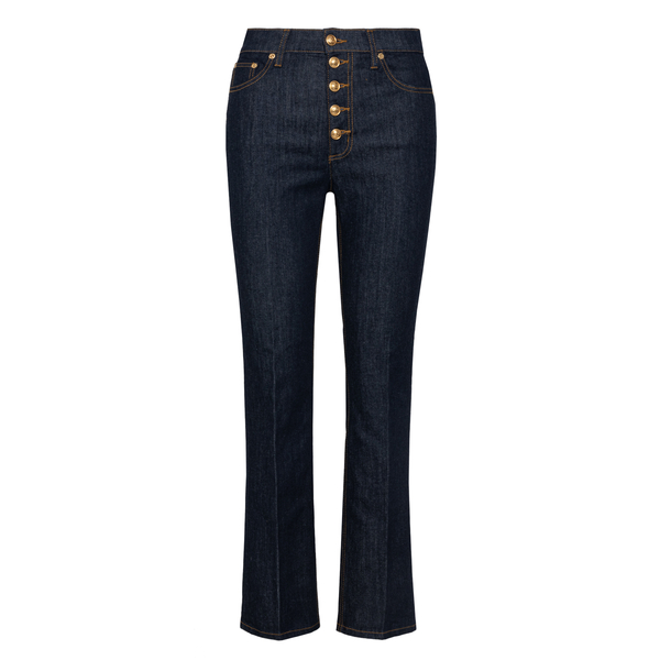 High-waisted jeans with gold buttons                                                                                                                  Tory Burch 53513 back