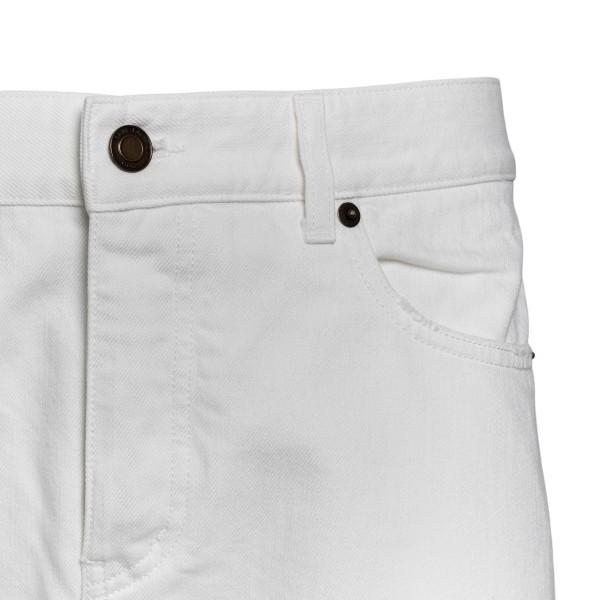 White tight pants                                                                                                                                      SAINT LAURENT