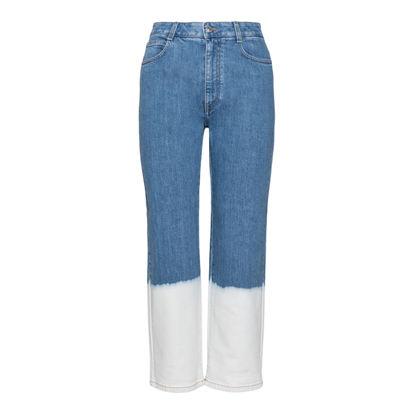 Blue jeans with contrasting detail                                                                                                                    Stella Mccartney 600675 back