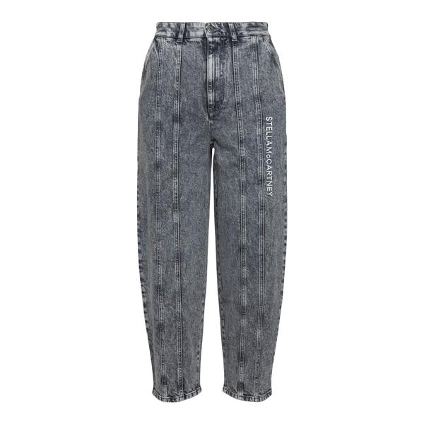 Grey jeans with brand name print                                                                                                                      Stella Mccartney 603707 back