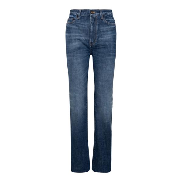 Jeans dritti in denim blu                                                                                                                             Saint Laurent 644332 retro