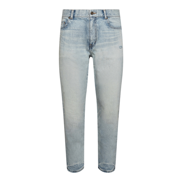 Straight jeans with a faded effect                                                                                                                    Saint Laurent 644678 back