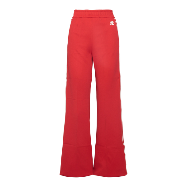 Flared red sweatpants                                                                                                                                 Gucci 655177 back