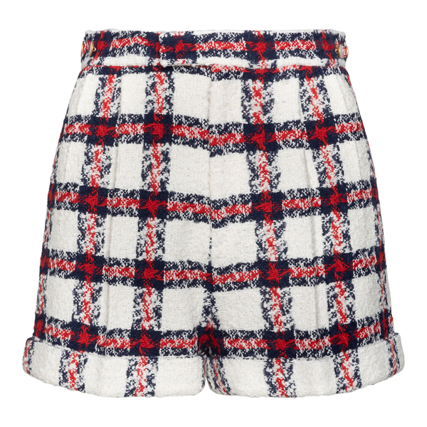 Red and white checked shorts                                                                                                                          Gucci 657877 back