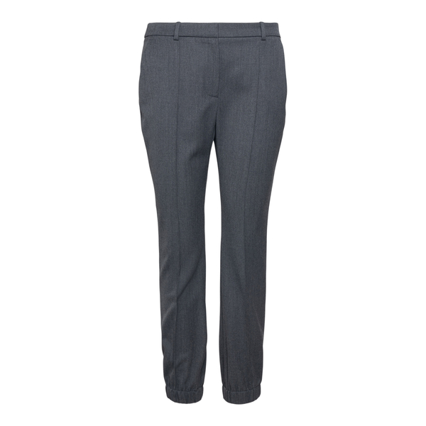 Grey trousers with cuffs at the ankles                                                                                                                Alexander Mcqueen 663861 back