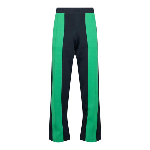 Pantaloni sportivi neri con fasce verdi                                                                                                               Bottega Veneta 665907 retro